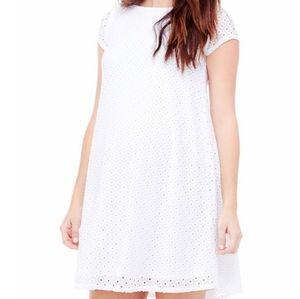 Ingrid & Isabel Lace White Maternity Dress